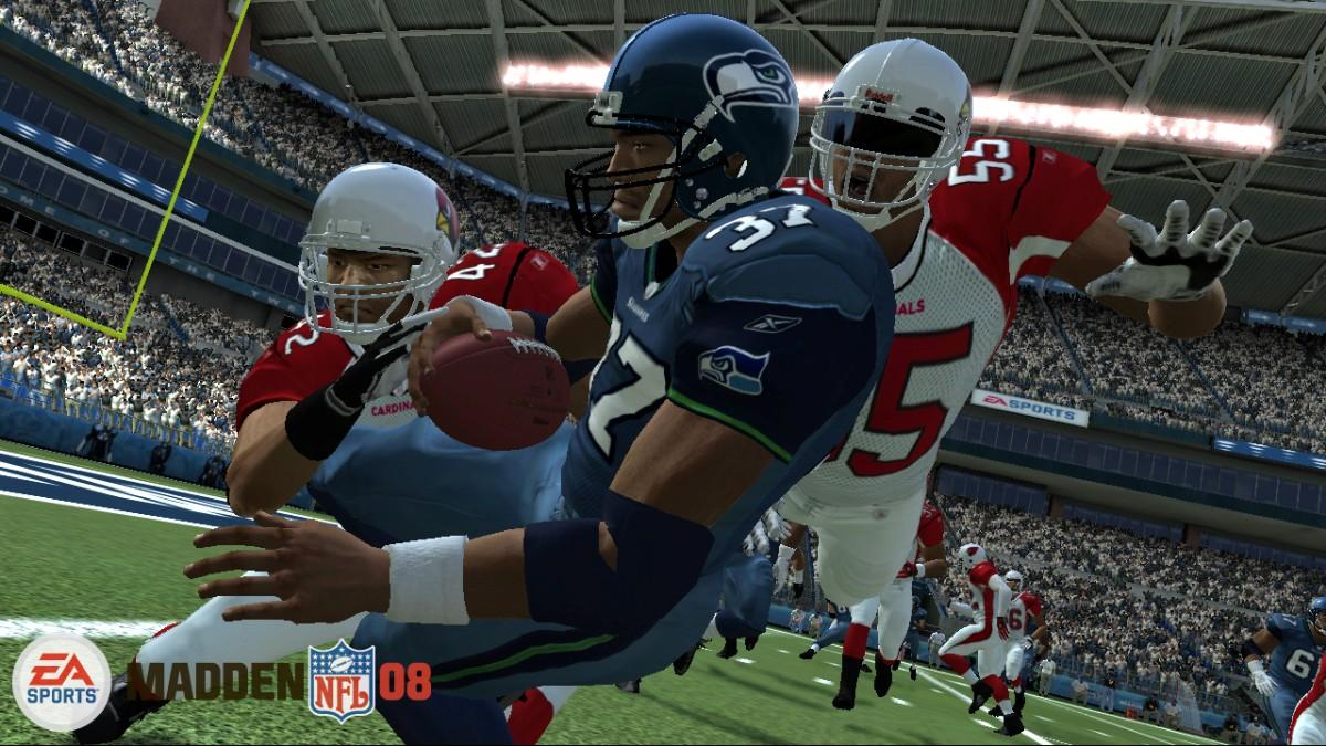 Madden 08 screen Shaun Alexander