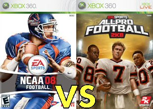 All-Pro Football 2K8 vs NCAA Football 08