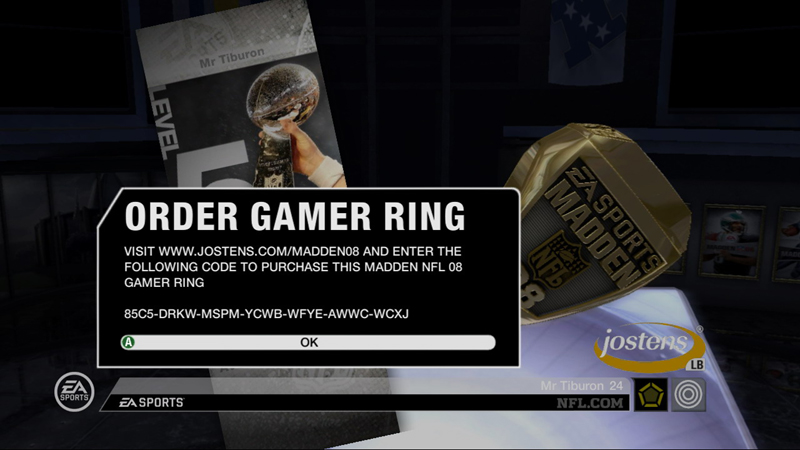 Order your own madden championship ring for 07 08 championship table