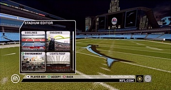 Created stadiums in Madden 08