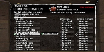 NCAA Football 08 recruiting