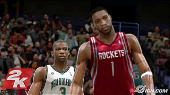 NBA 2K8 Tracy McGrady and Chris Paul