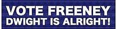 Dwight Freeney election bumper sticker