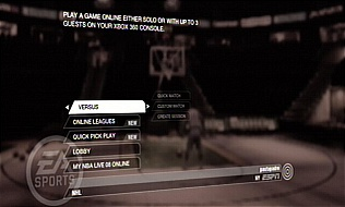 NBA Live 08 online play