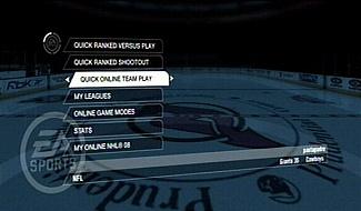 Online play NHL 08