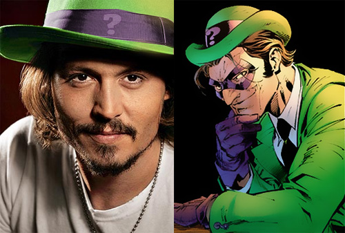 johnny-depp-riddler. A while back the internet was buzzing when it was