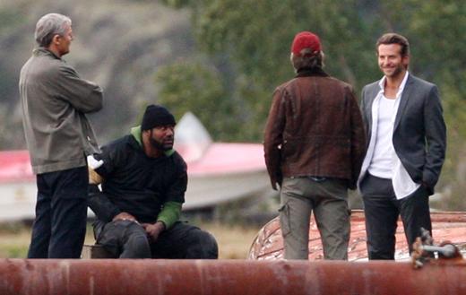 Liam Neeson, Quinton 'Rampage' Jackson, Bradley Cooper