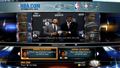 NBA 2K13 Online Franchise