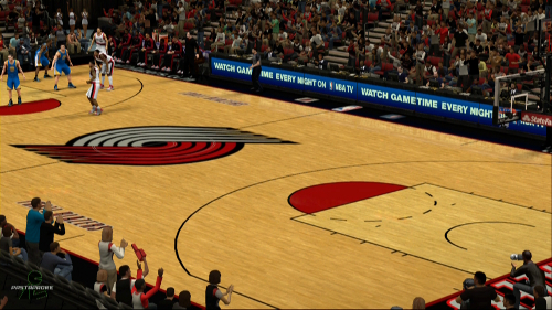 Portland Trail Blazers Basketball Court