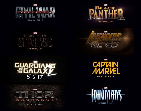 marvel film announcements