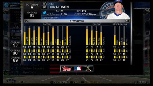 MLB 15 Josh Donaldon Progression