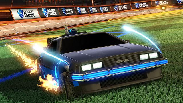 Rocket League Delorean