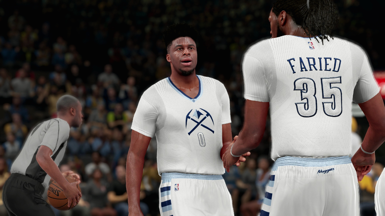 Nuggets Whitegold Pride uniforms NBA 2K16