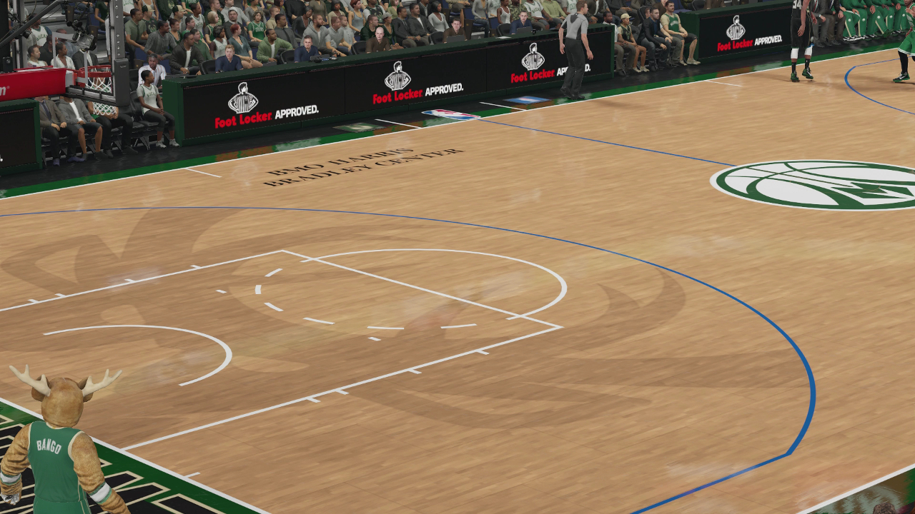 NBA 2K16 Milwaukee Bucks alternate court