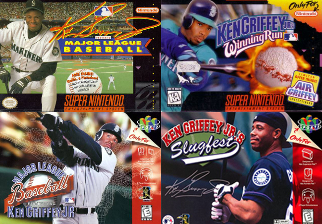 Ken Griffey Jr. video game covers