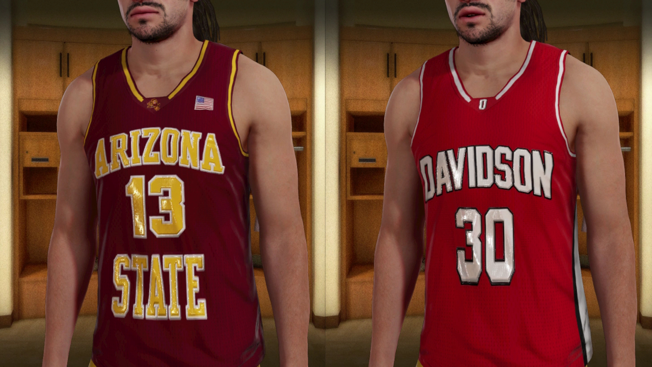 hot sale online cffa6 cba4f First two college jerseys added for MyPlayer characters to ...