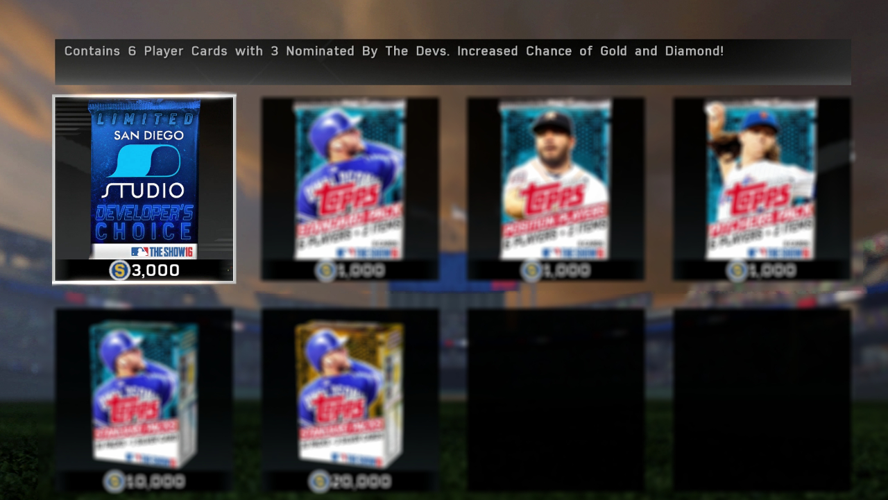 MLB The Show 16 Developer's Choice Pack
