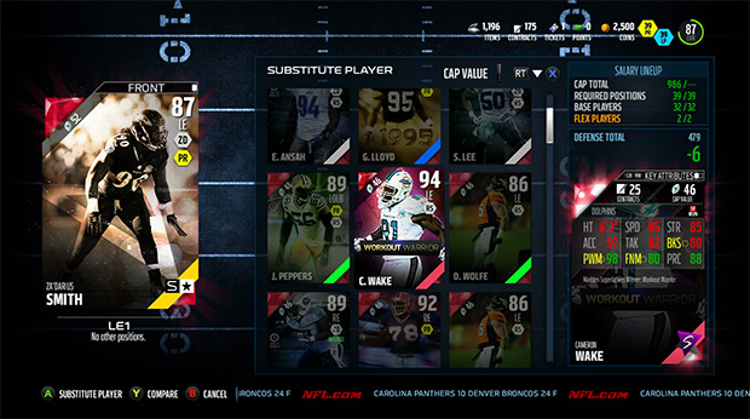 Madden 16 Ultimate Team Salary Cap Ranked