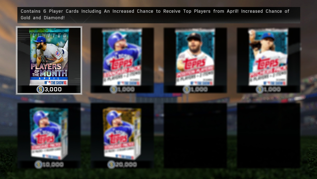 MLB The Show 16 April Pack