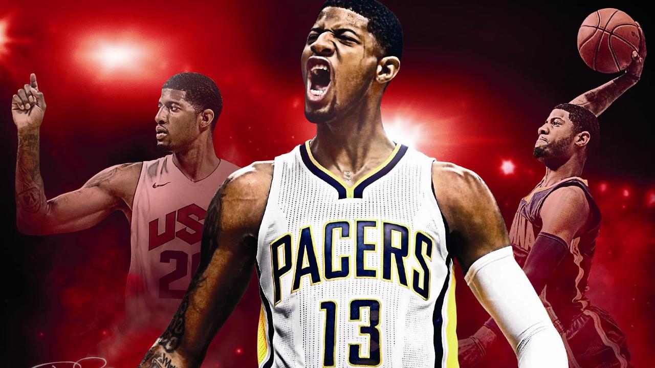 NBA 2K17 Paul George Cover