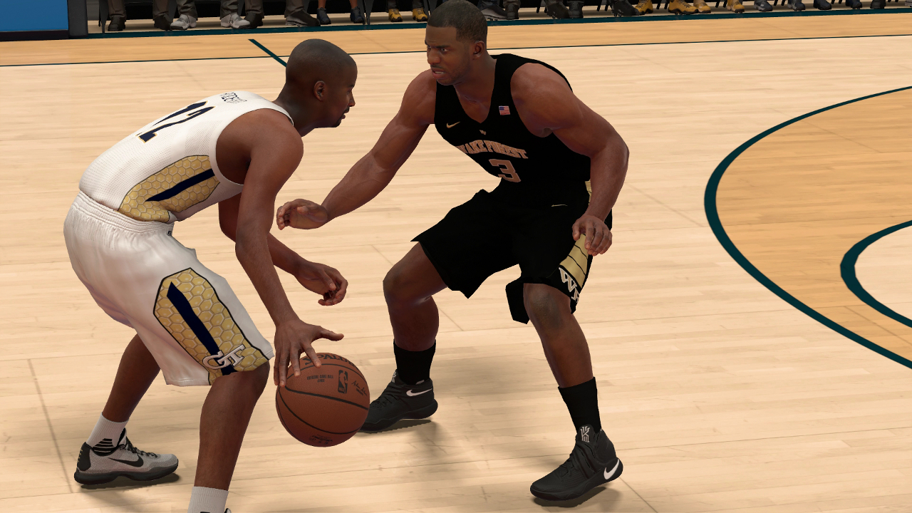 NBA 2K17 Wake Forest Georgia Tech Chris Paul Kenny Anderson