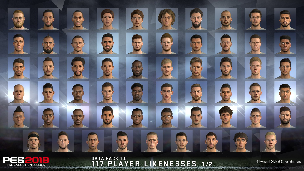 First update to PES 2018 improves 117 player faces and more