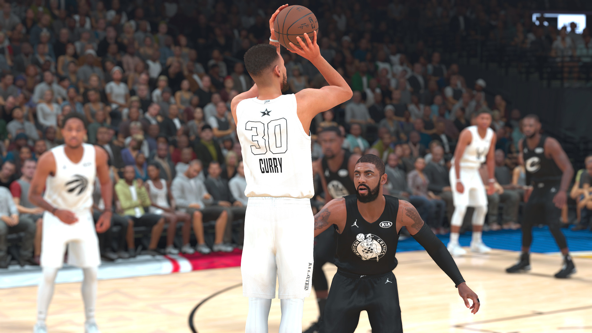 All-Star teams, jerseys, and court have all been added to NBA 2K18