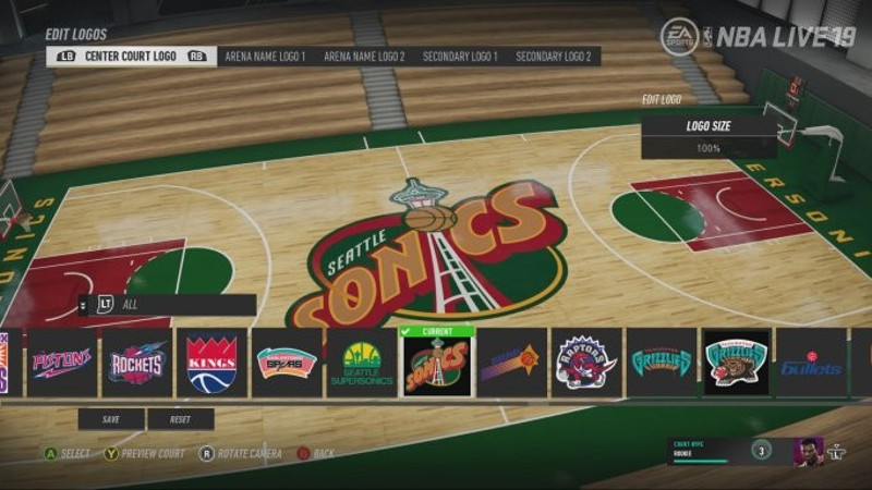 Customize Your Court In Nba Live 19 Pastapadre Com